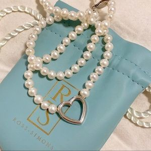 Ross-Simons Pearl Heart Necklace